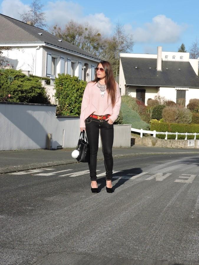 suéter rosa