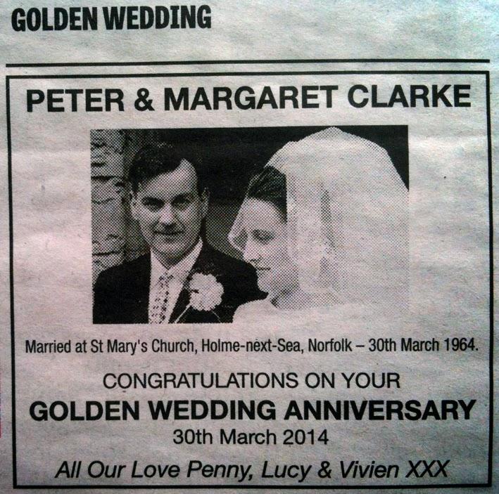 Pennys Hot Birding And Life GOLDEN WEDDING ANNIVERSARY CELEBRATIONS