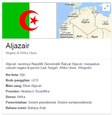 aljazair map