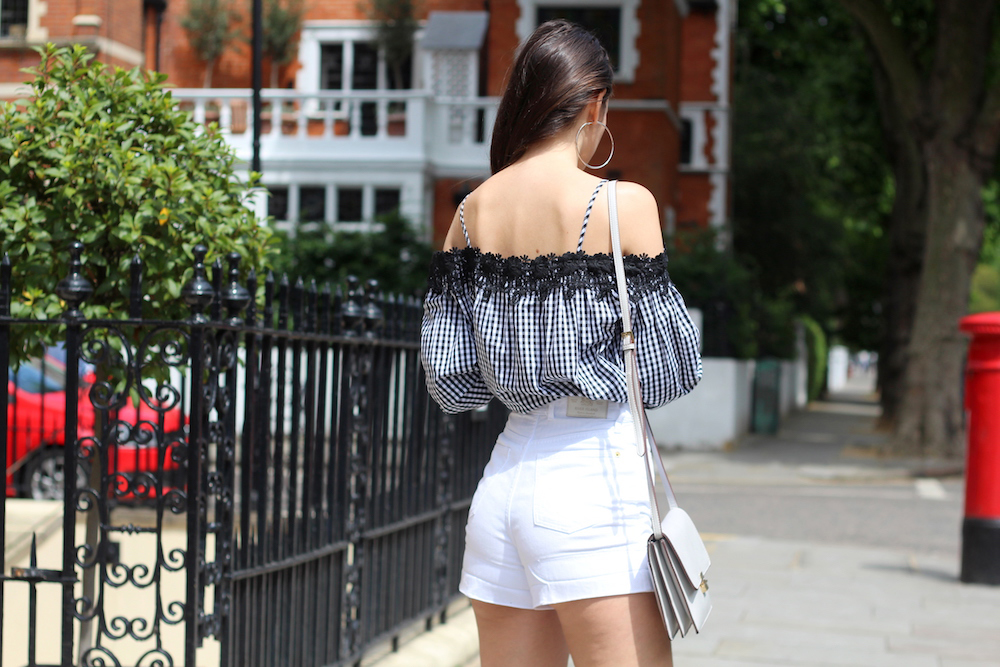 denim shorts in the city peexo blogger