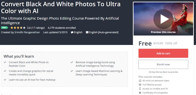 [100% Off] Convert Black And White Photos To Ultra Color with AI| Worth 19,99$
