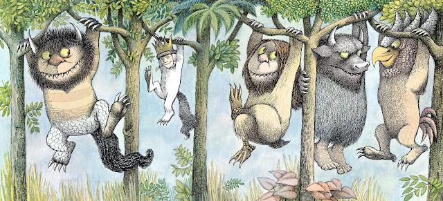 """Ilustração que faz parte do livro """"Onde Vivem Os Monstros"""", de Maurice Sendak."""