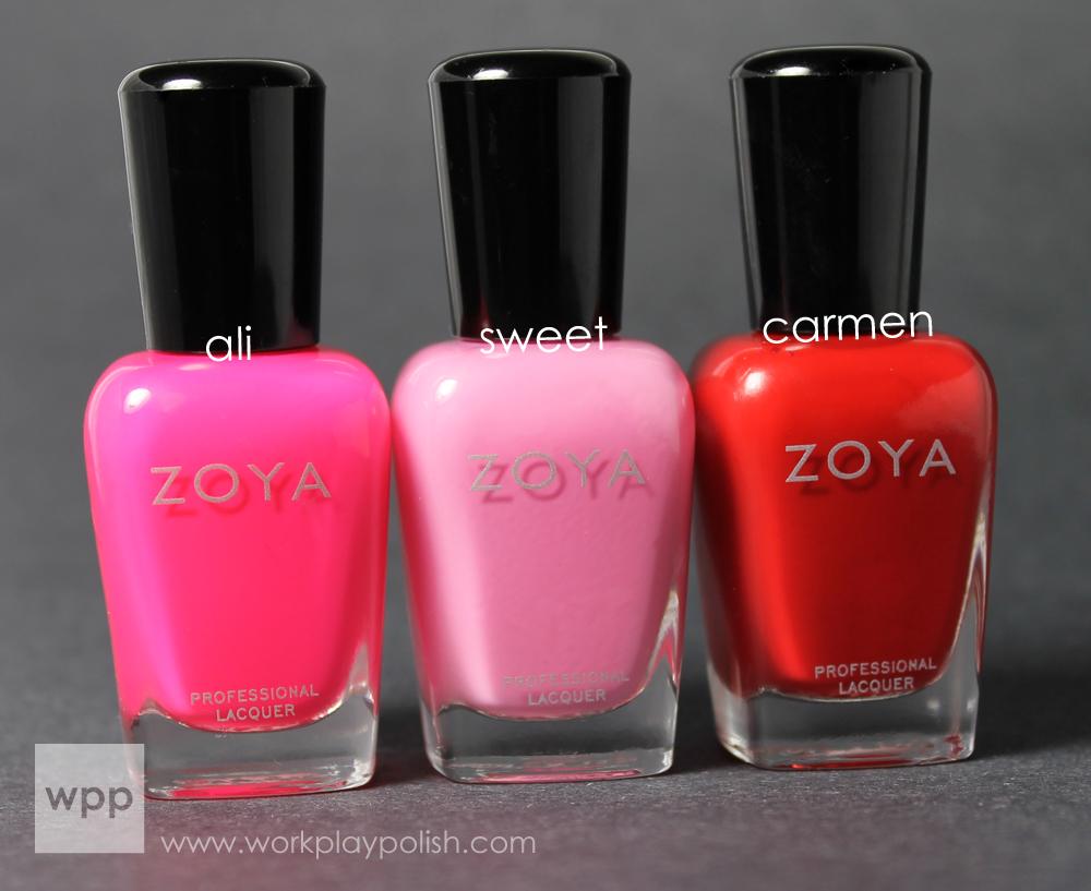 Zoya Ali, Sweet and Carmen (work / play / polish)