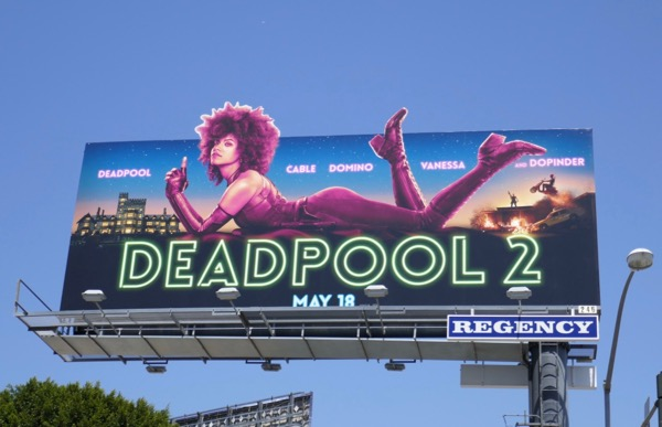 Domino Deadpool 2 cut-out billboard