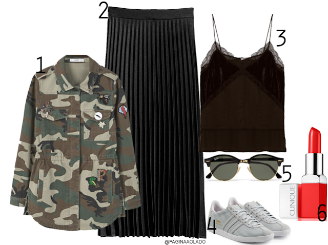SET, Moodboard, Zara, Mango, H&M, Ray-Ban, Clinique, Adidas, Gazelle, Trends, FW15-16, Military, midi skirt, blogger