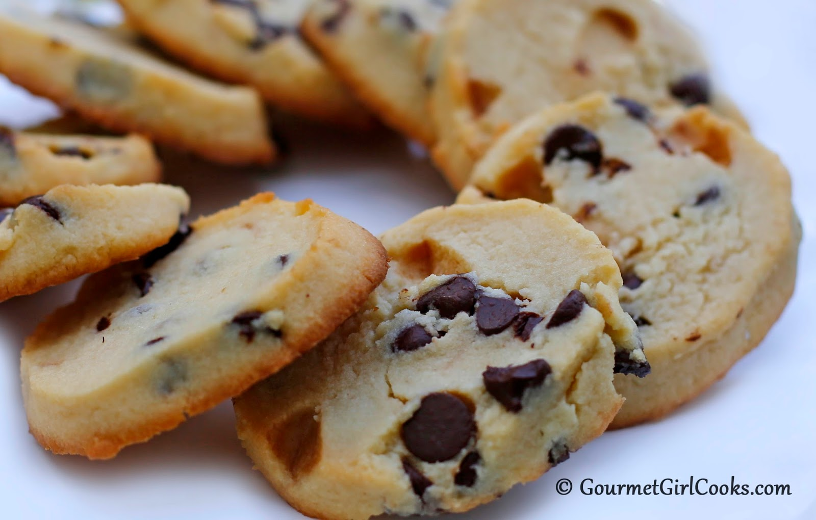 Chocolate Chip Shortbread Cookies - Low Carb & Gluten Free