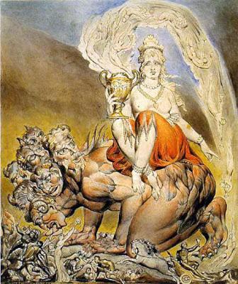 The Whore of Babylon, William Blake illustration for the book of Revelation