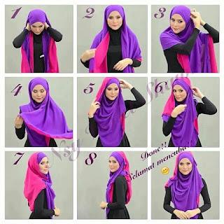 Tutorial Hijab Syari menutup dada