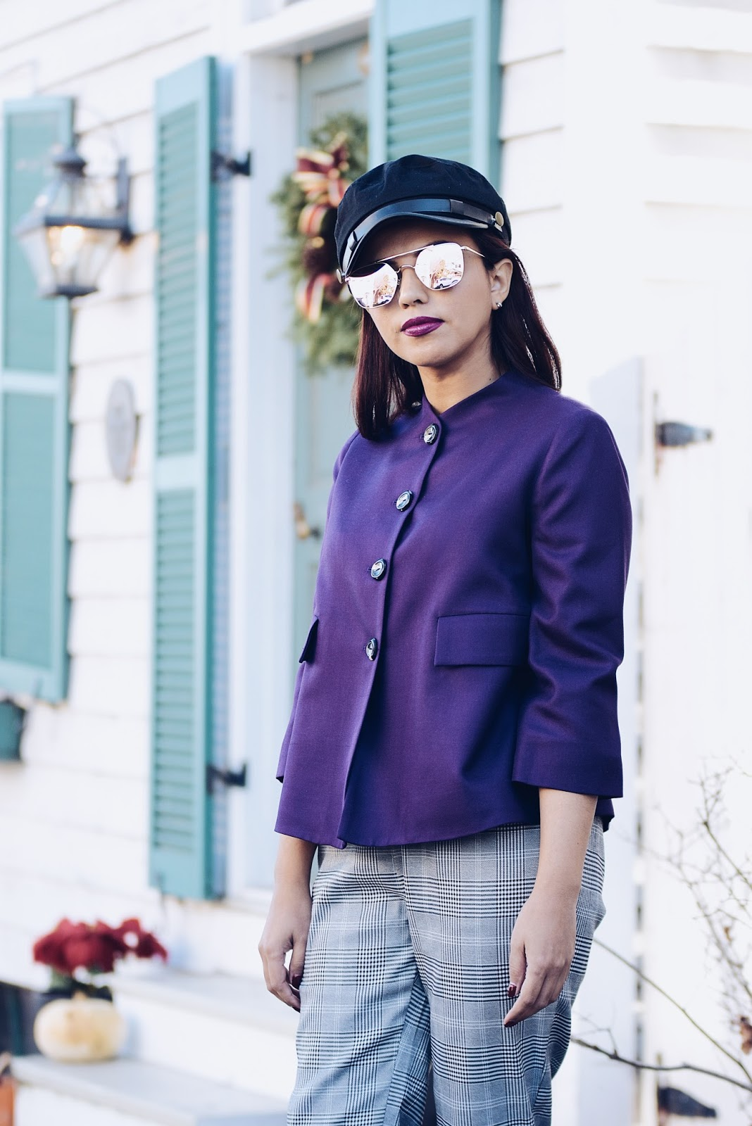 Ultra Violet, PANTONE® Color of The Year 2018 wearing a @lindsaynicholasnewyork piece.
