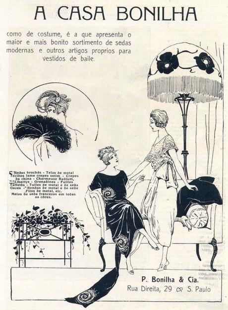 Propaganda de 1919 da famosa casa de comércio de sedas da cidade de São Paulo