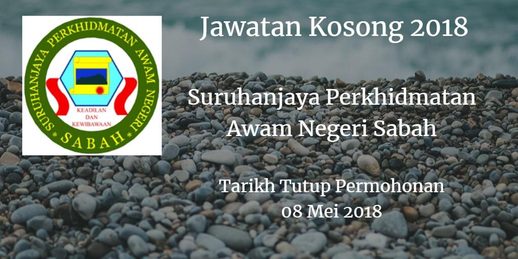 Jawatan Kosong Suruhanjaya Perkhidmatan Awam Negeri Sabah 04 Mei 2018