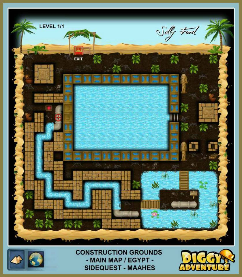 Diggy's Adventure Walkthrough: Egypt Main / Construction-Grounds