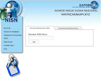 cek NISN bedasarkan nama siswa