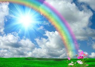 sonhar com arco íris na água