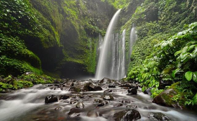 Air Terjun Tiu Kelep serta Air Terjun Sendang Gile di Senaru Lombok