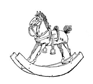 toy vintage rocking horse image