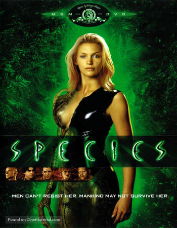 Poster Of Species 1995 Hindi Dual Audio 190MB UNRATED  HEVC Mobile  Free Download Watch Online worldfree4uk.com