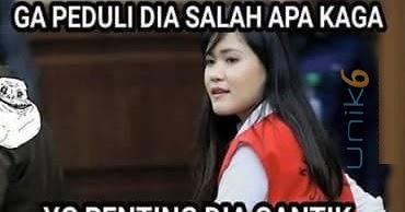 Gambar2 Meme Lucu Sidang Jessica Kumala Wongso Pembunuh