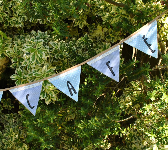 Learn how to make bunting from men's shirts. Add lace and appliqué ~ Tutorial by Sew for Soul