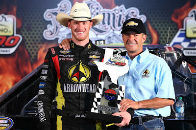 Ward Burton (right) and son Jeb Burton.