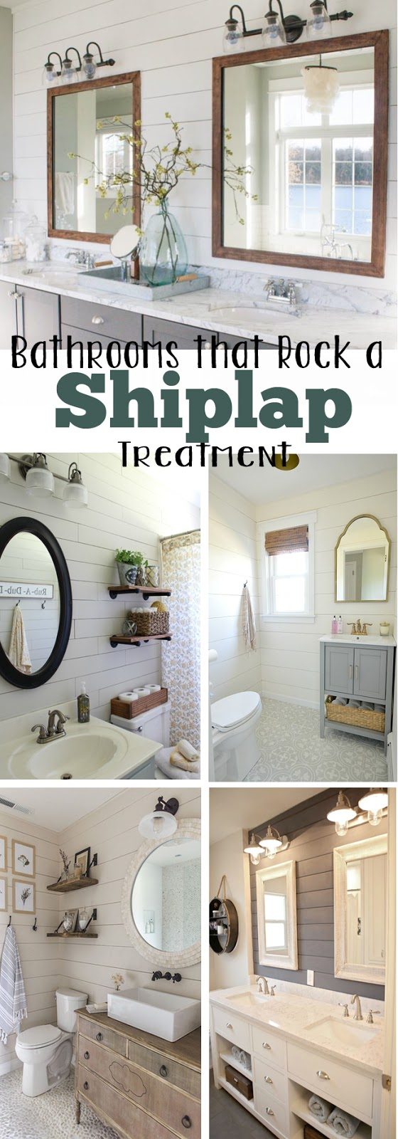 Shiplap treatment in bathrooms