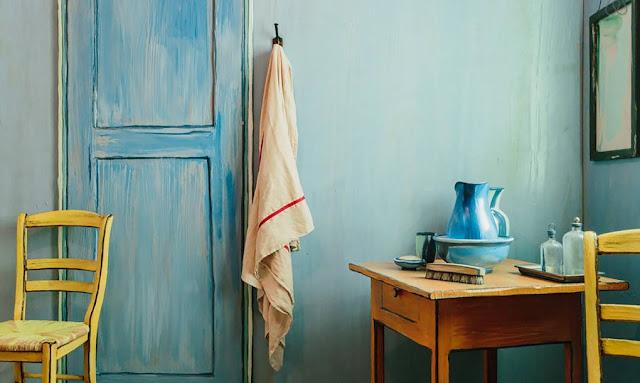 Schlafen in Vincent van Gogh´s Gemälde - eine Kunstinstallation mit Ideen zum Einrichte, Wohnen und Leben