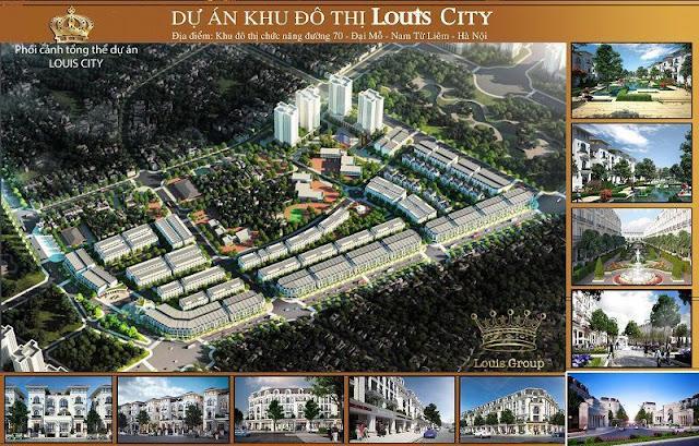 Phối cảnh tổng thể dự án Louis City Đại Mỗ