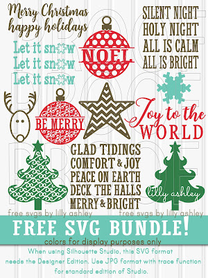 free Christmas svg set