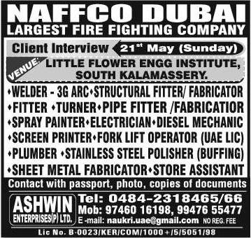 Naffco Fire Fighting company jobs in Dubai