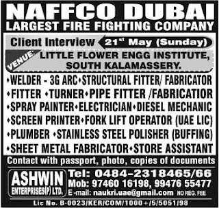 Naffco Fire Fighting company jobs in Dubai