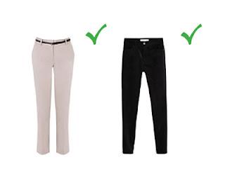Бежевые и бархатные брюки для худых женщин