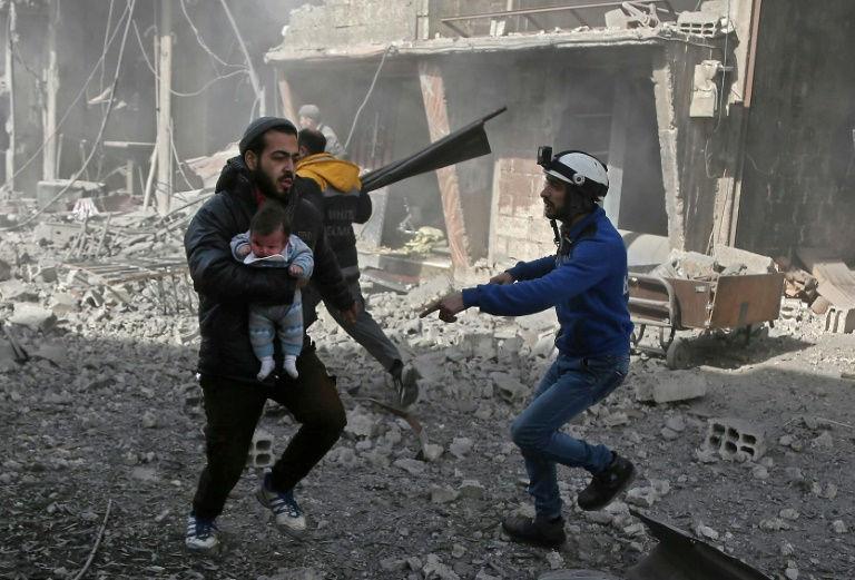 400 Ribu Warga Suriah Cari Perlindungan dari Serangan Bom