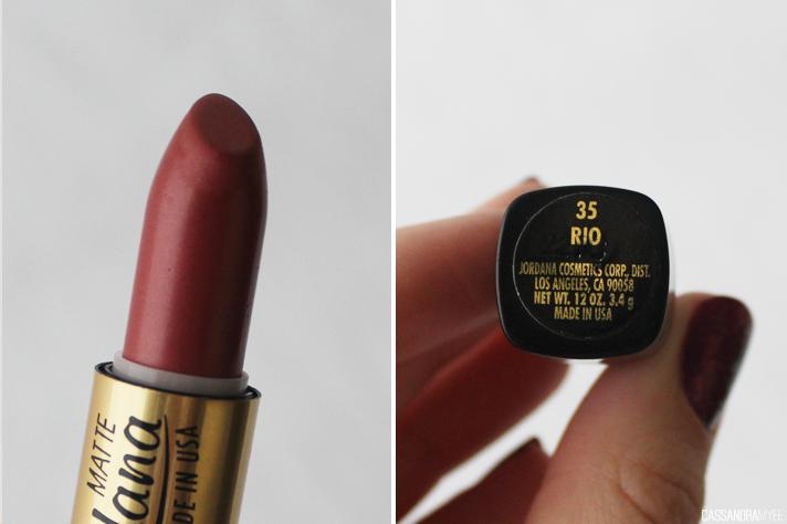JORDANA // Lipstick Collection + Swatches - Matte Lipsticks Rio - cassandramyee