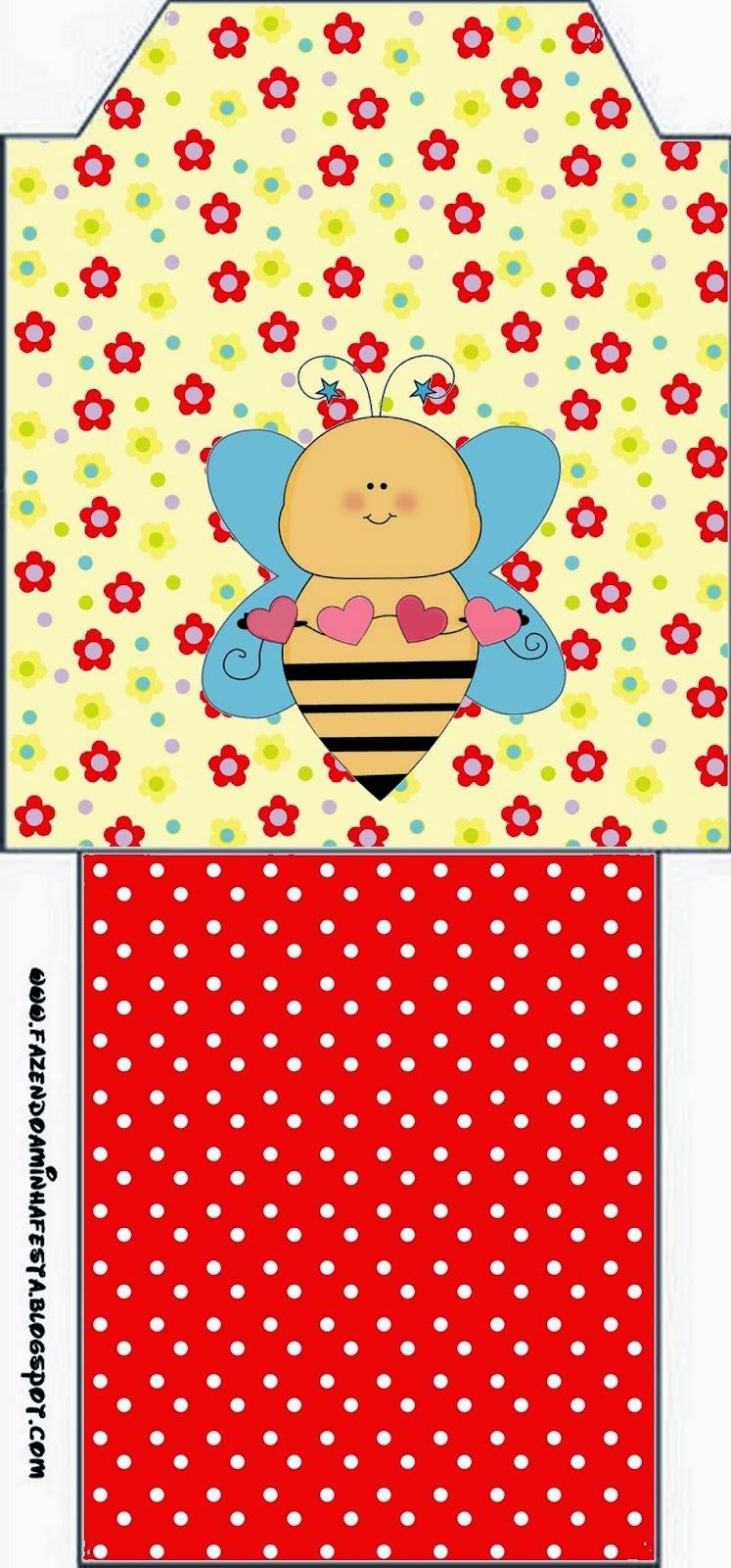 Bees Free Printable Tea Bag.