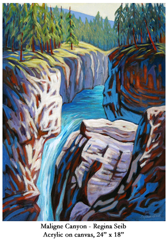 Regina Seib was born in a small village in East Germany, immigrating to Canada at age seven with her mother and grandmother.  Her new life in Canada began in a Saskatchewan farming community.  She explored her rural surroundings with a keen curiosity and wonder, and then gradually, the diversity of rugged landscapes in the western Canadian provinces.