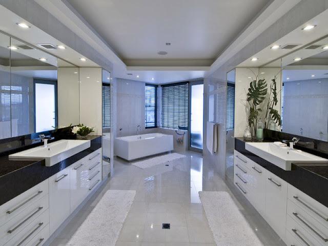 moderne salle de bain modernes avec spa