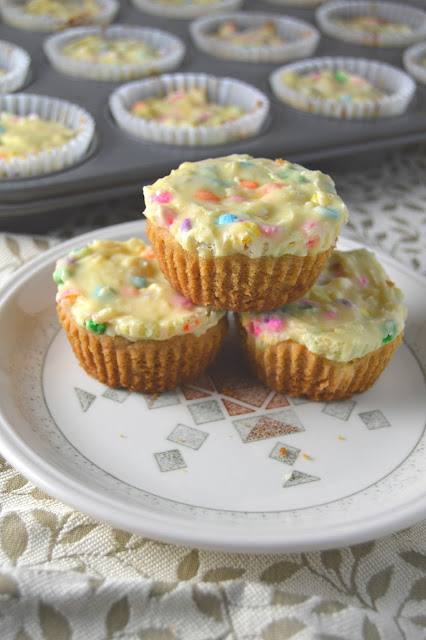 White Chocolate Cheesecake Cookie Cups with Sprinkles