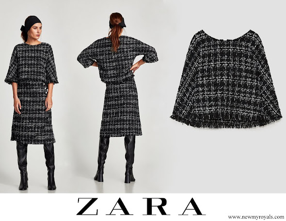 Princess Sofia wore Zara tweed top