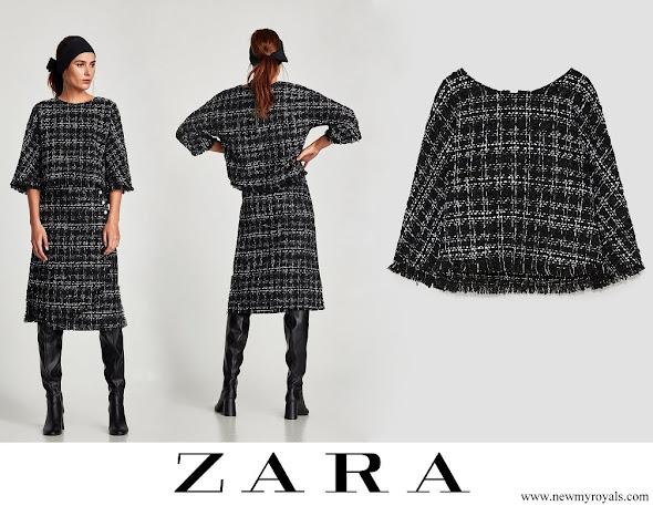 Princess Sofia wore Zara tweed top