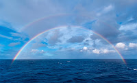 Double Rainbow over Atlantic Ocean
