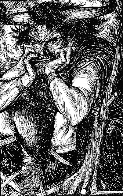 Edmund J. Sullivan  book illustration demon