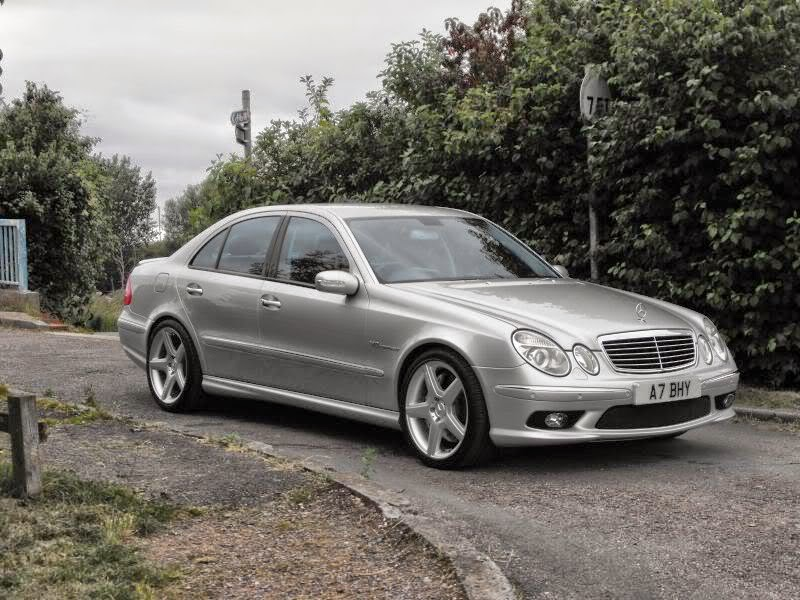 mercedes benz w211 e55 amg on cls wheels benztuning. Black Bedroom Furniture Sets. Home Design Ideas