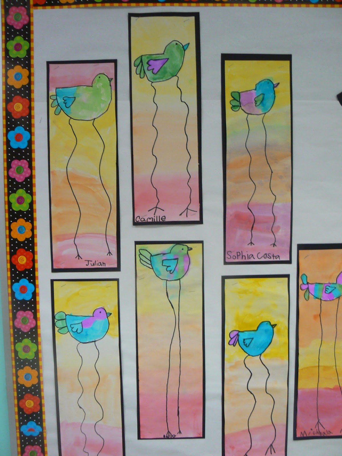 Mrs T S First Grade Class Dali Style Spring Birds
