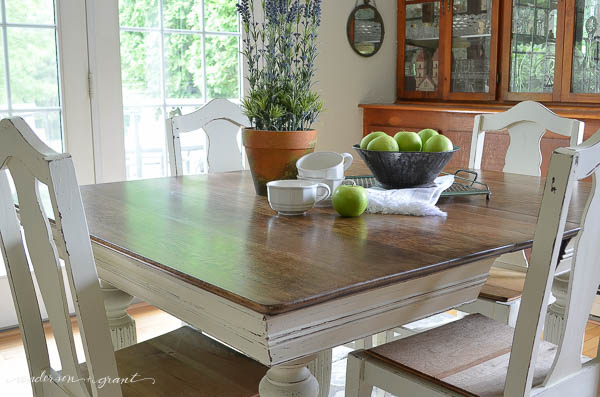 Antique Dining Table + Chairs