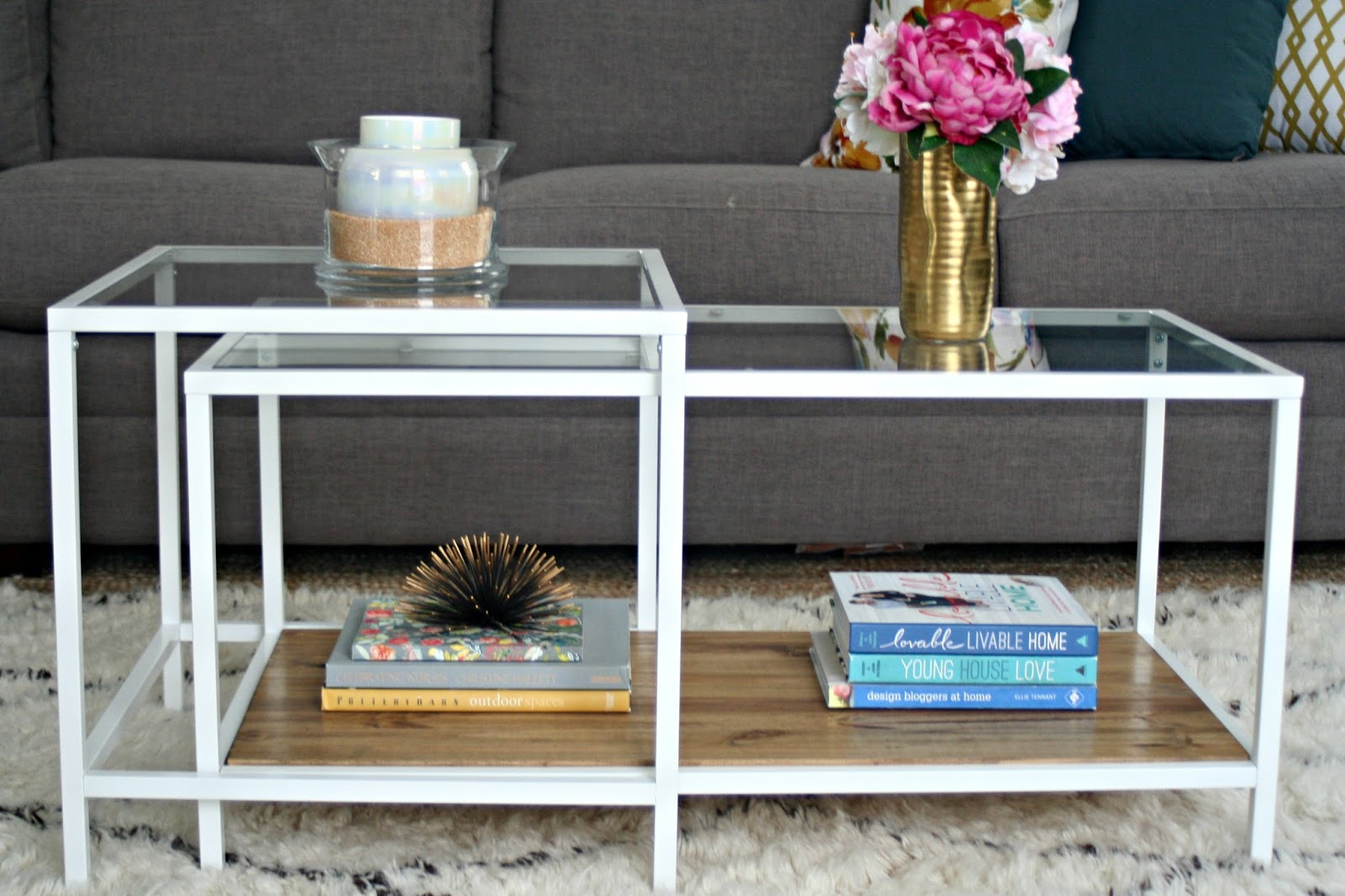 Vittsjo laptop table to upscale side table get home decorating -  Coffee Table Hack Ikea Restyle Vittsjo Hack Restyle It Wright