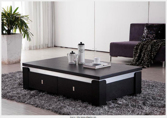 Top Black Side Table With Storage Graphic