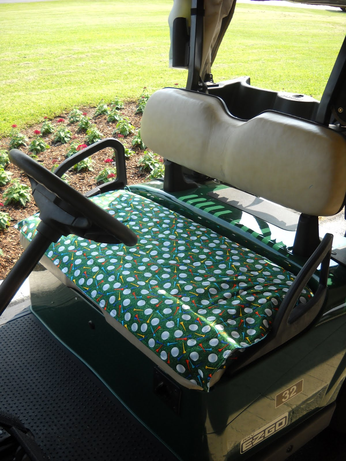 Sew Berry Special Par Tee Time Golf Cart Seat Covers