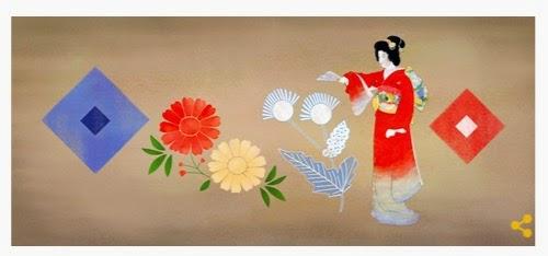 Googleロゴ上村松園生誕140周年