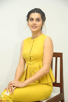 Taapsee Pannu looks mesmerizing in Yellow for her Telugu Movie Anando hma motion poster launch ~  Exclusive 020.JPG