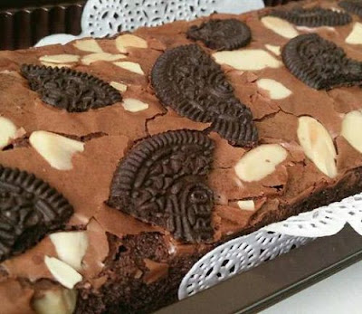 Resep Shiny Brownies Coklat Oreo